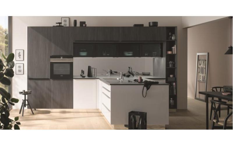 """Кухня """"Topaz"""" в стиле модерн с шпонироваными фасадами."""