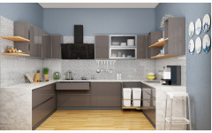 """Оригинальная кухня""""Gray"""" с каменной столешницей"""