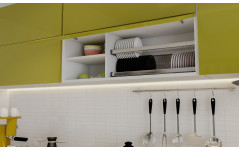 "Современная яркая кухня ""Shine"" с глянцевыми фасадами."