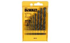 Набор сверл DeWalt HSS-R по металлуd=1,2,3,4,5,6,7,8,9,10мм