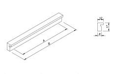 Ручка меблева Rejs AR32 100/64 алюміній