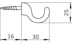 Крючок мебельный Siro H033/25A4V3