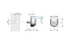 Полкодержатель IF Peki для стеклянных полок 4-10мм