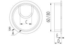 Заглушка для проводов Amix металл алюминий