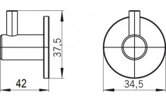 Крючок мебельный Siro 1658/N1