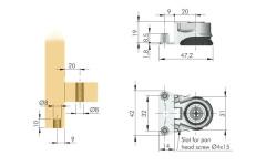 Нога мебельная Integrato E 12 мм (опора регулируемая)