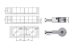Стяжка для столешниц IF QUICK 35мм, L=64мм