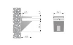 Полкодержатель Kalabrone Mini Italiana Ferramenta для стеклянных полок хром