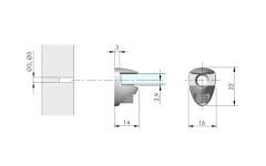 Полкодержатель IF Cobra для стеклянных полок 4-6мм