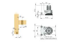 Нога мебельная Integrato E 25 мм (опора регулируемая)