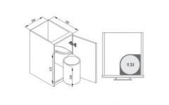 Мусорное ведро Rejs Automat 270 фасад 45 серебро