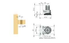 Нога мебельная  Italiana Ferramenta Integrato G 25 мм (опора регулируемая)