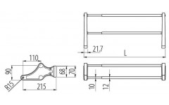 Полка для обуви 800-1000 мм