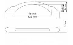 Ручка мебельная Siro 1026/135PB1