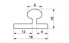 Направляющий профиль для Омега 60 L=2м