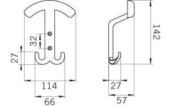 Крючок мебельный Siro 1064/ZN21