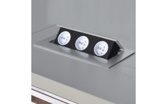 Удлинитель для офиса AMIX на 3 розетки French с заземлением и проводом 1.5м белый