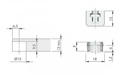 Полкодержатель IF FLIPPER с дюбелем для полок из ДСП прозрачный