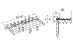Выдвижная вешалка GTV для брюк и галстуков J04