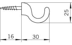 Крючок мебельный Siro H033/25A12V3