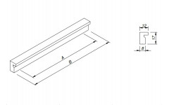 Ручка мебельная Rejs AR32 150/128 алюминиевая