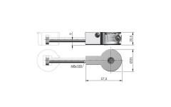 Стяжка для столешниц IF QUICK 35мм, L=100мм