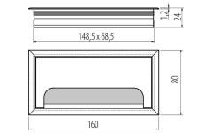 Заглушка для проводов Merida 80х160 алюминий