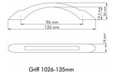 Ручка мебельная Siro 1026/135PB12
