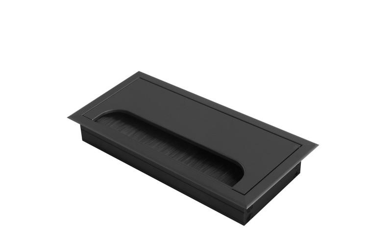 Заглушка для проводов Merida 80х160 черная