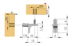 K-LINE для ДСП с фиксацией