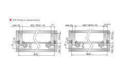 Скрытые направляющие 600мм Linken с доводчиком
