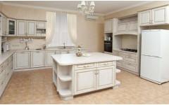"""Большая и роскошная кухня """"Luxury"""" с фасадами из натурально дерева"""